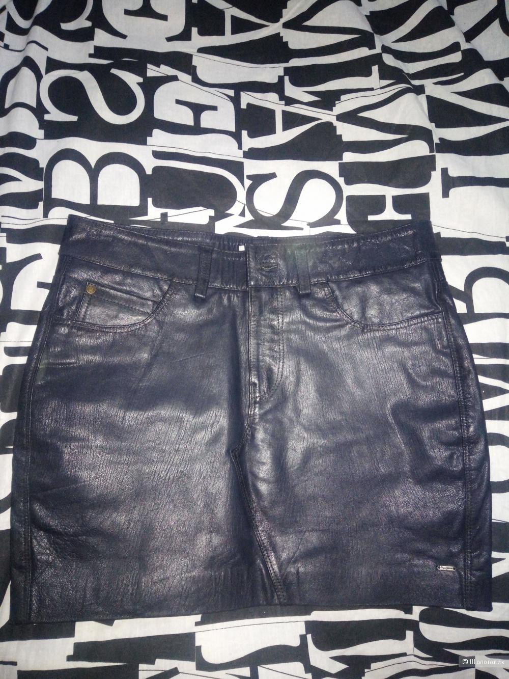 "Юбка кожаная  ""Pepe Jeans"" M- L"