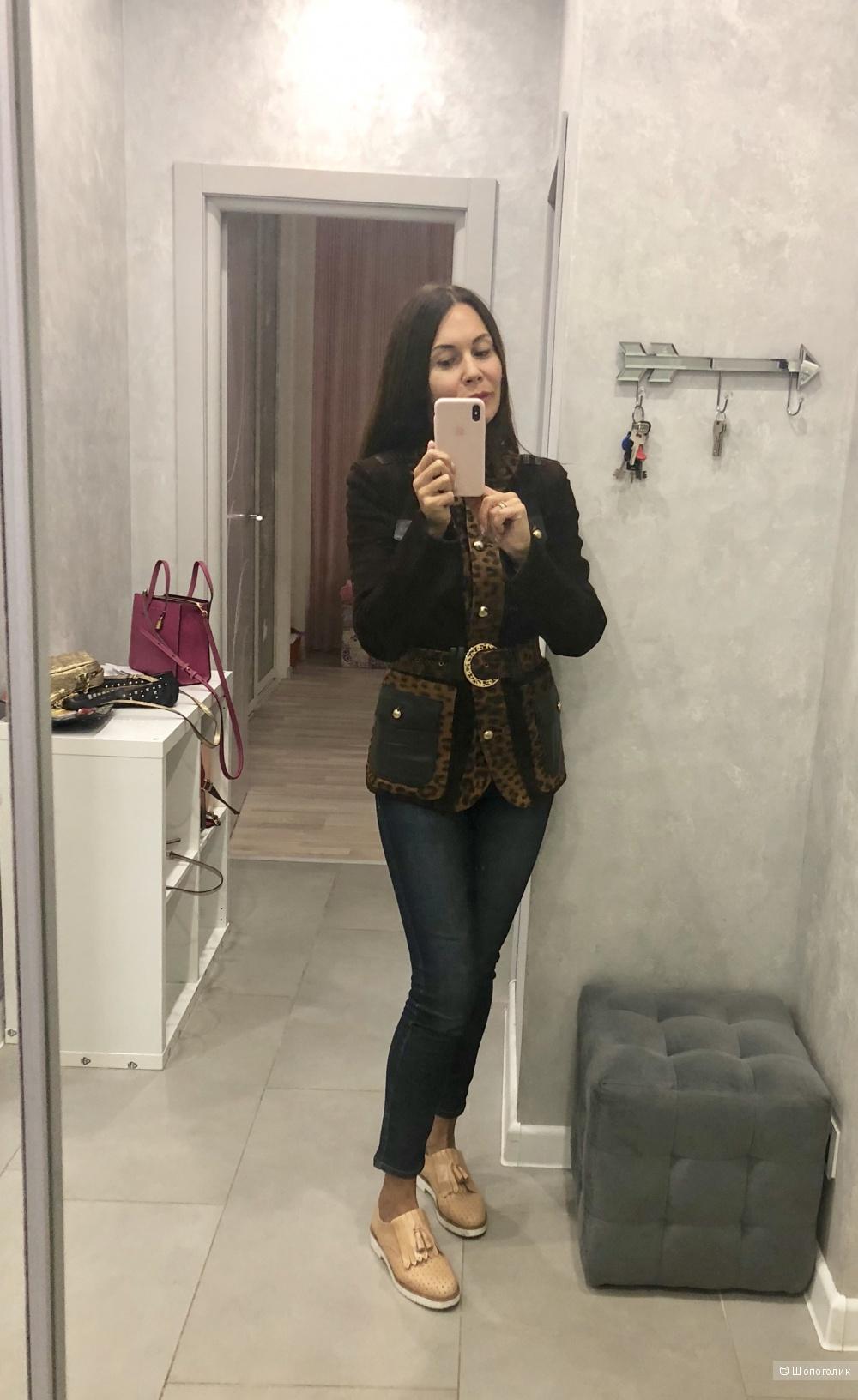 Замшевый пиджак, размер 42-44.