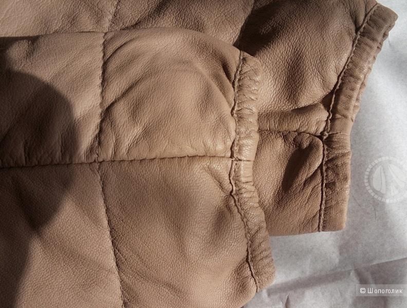 Кожаная куртка VINTAGE DE LUXE 44 ит.( 42-44 русский размер)