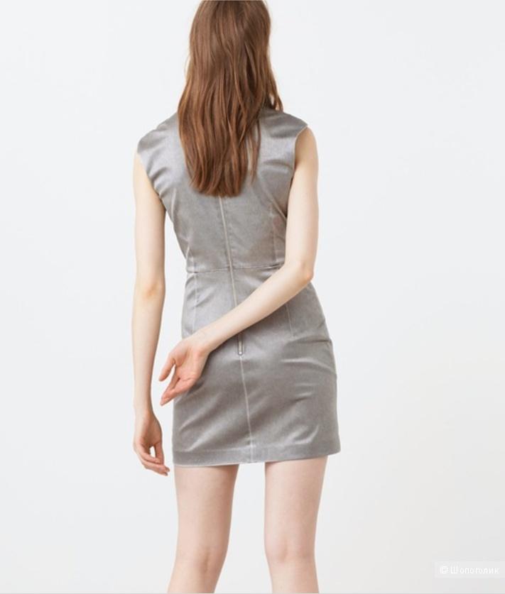 Платье стального цвета Mango, L