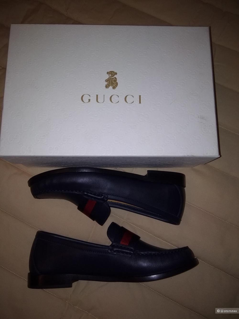 Лоуферы Gucci, размер 35