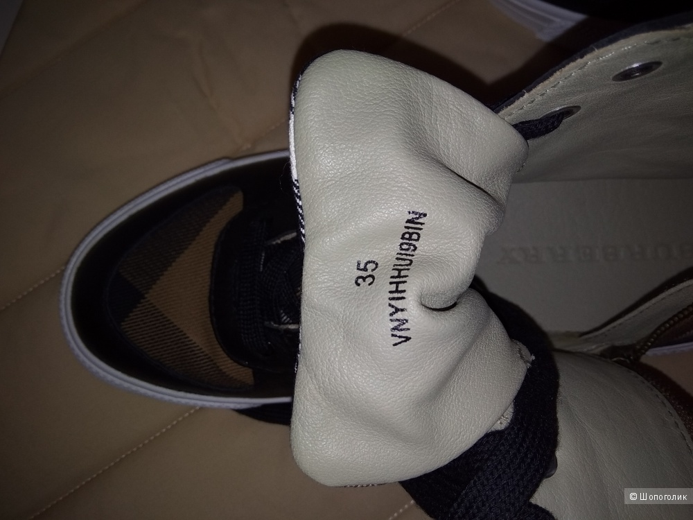 Кроссовки Burberry, размер 35