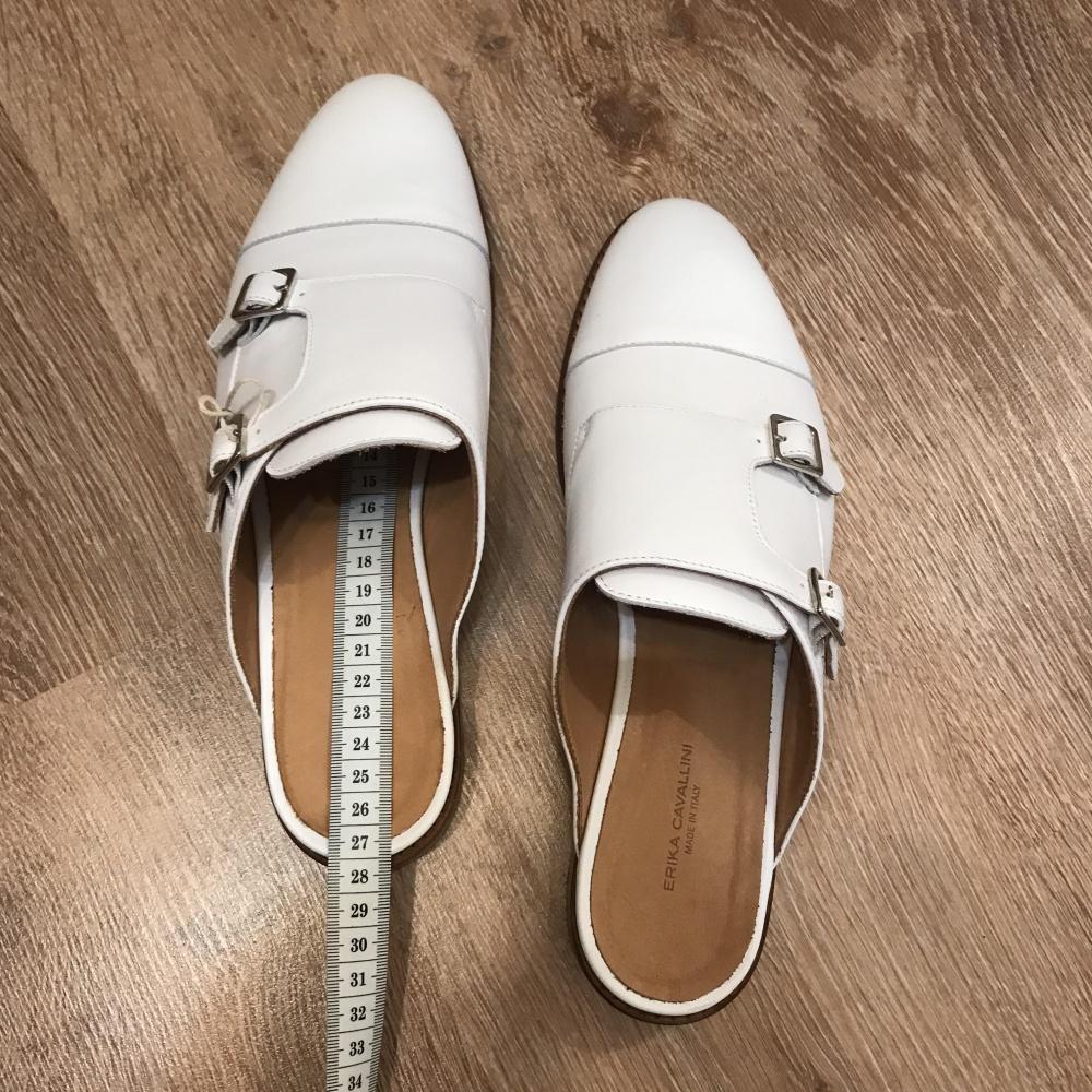 Белые сабо Erika Cavallini 40 размер (на 39 размер)