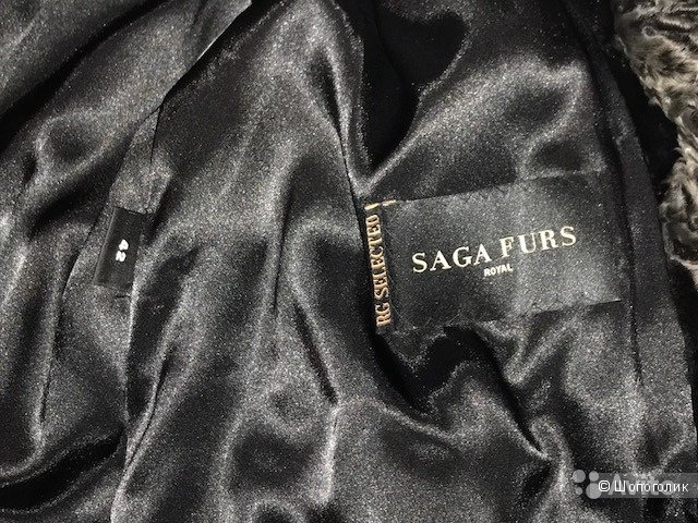 Пальто из стриженой норки, Saga furs, размер 42-44