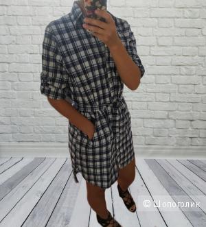 Платье рубашка Клетка, 48-50