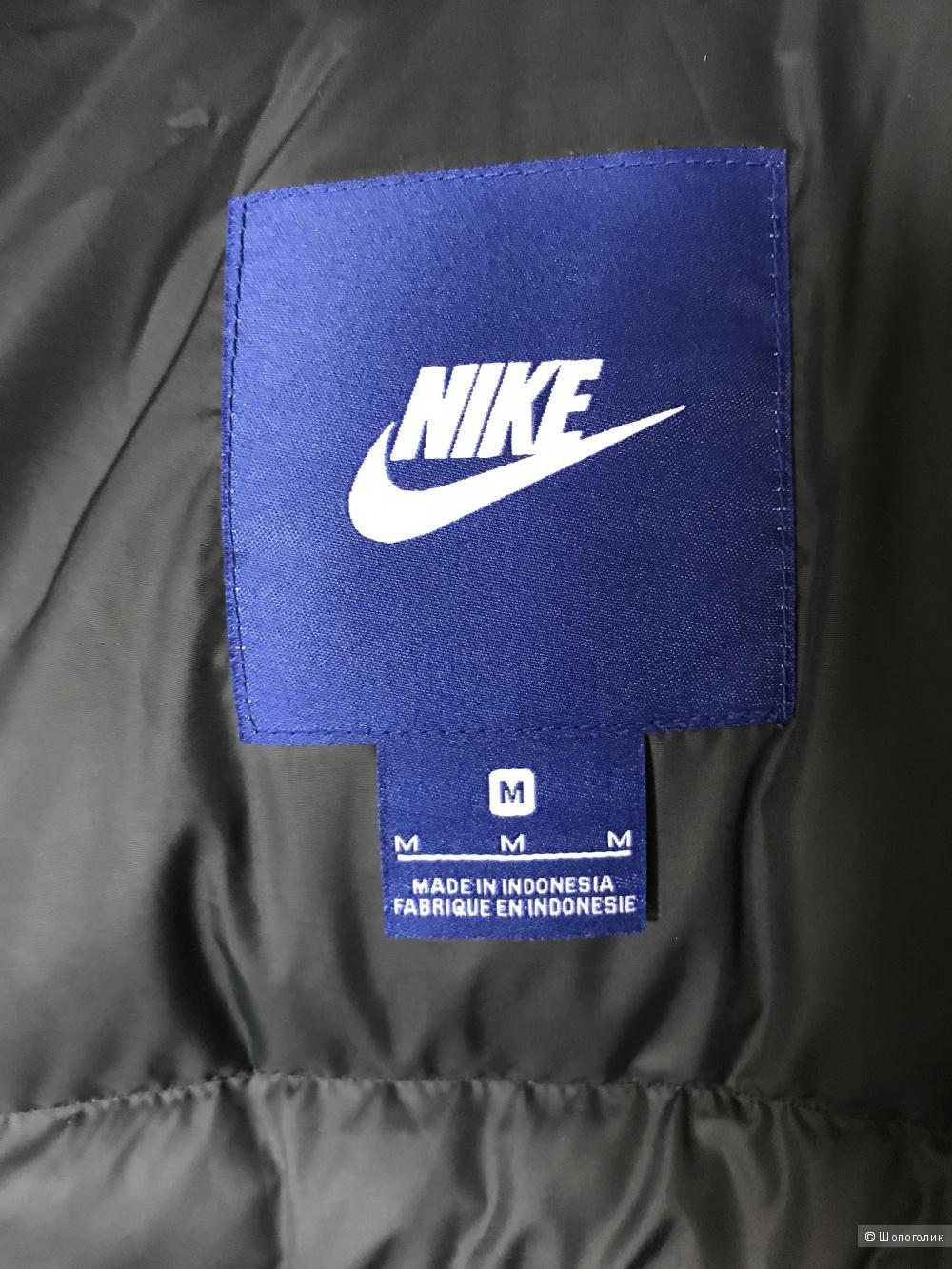 Удлиненный мужской пуховик Nike, (р-р М)