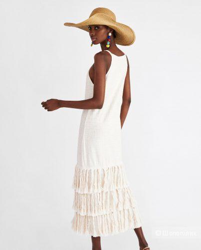 Платье с бахромой Zara S