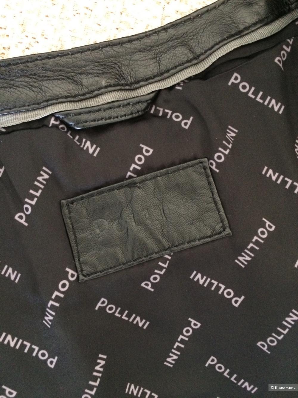 Куртка кожаная  Pollini + юбка No name 42-44-46