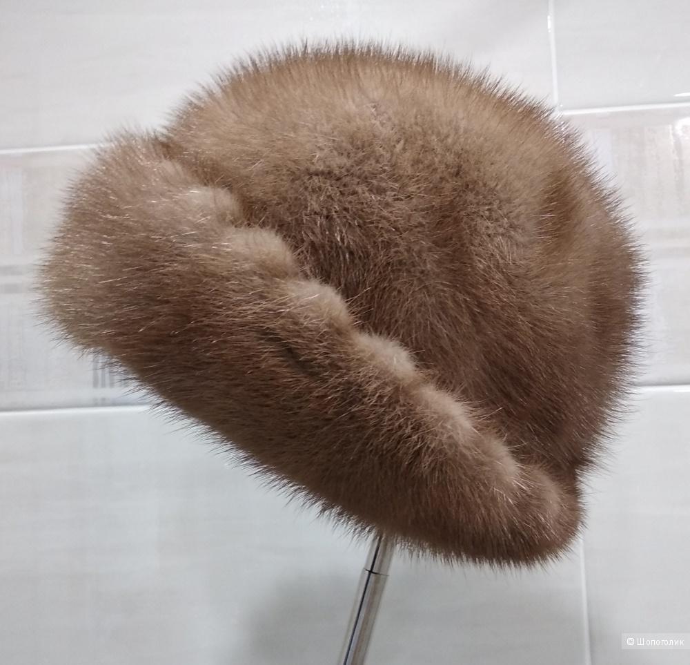 """Норковая шапка, """"Exclusive Collection """", (на 55-58 см)"""