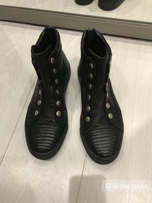 Ботинки кожаные bikkembergs, 42 размера