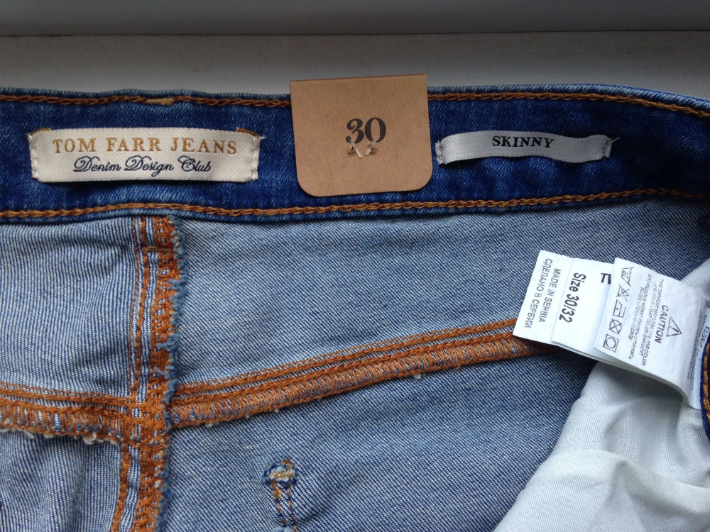 """Джинсы """" Tom Farr """", 30 размер."""