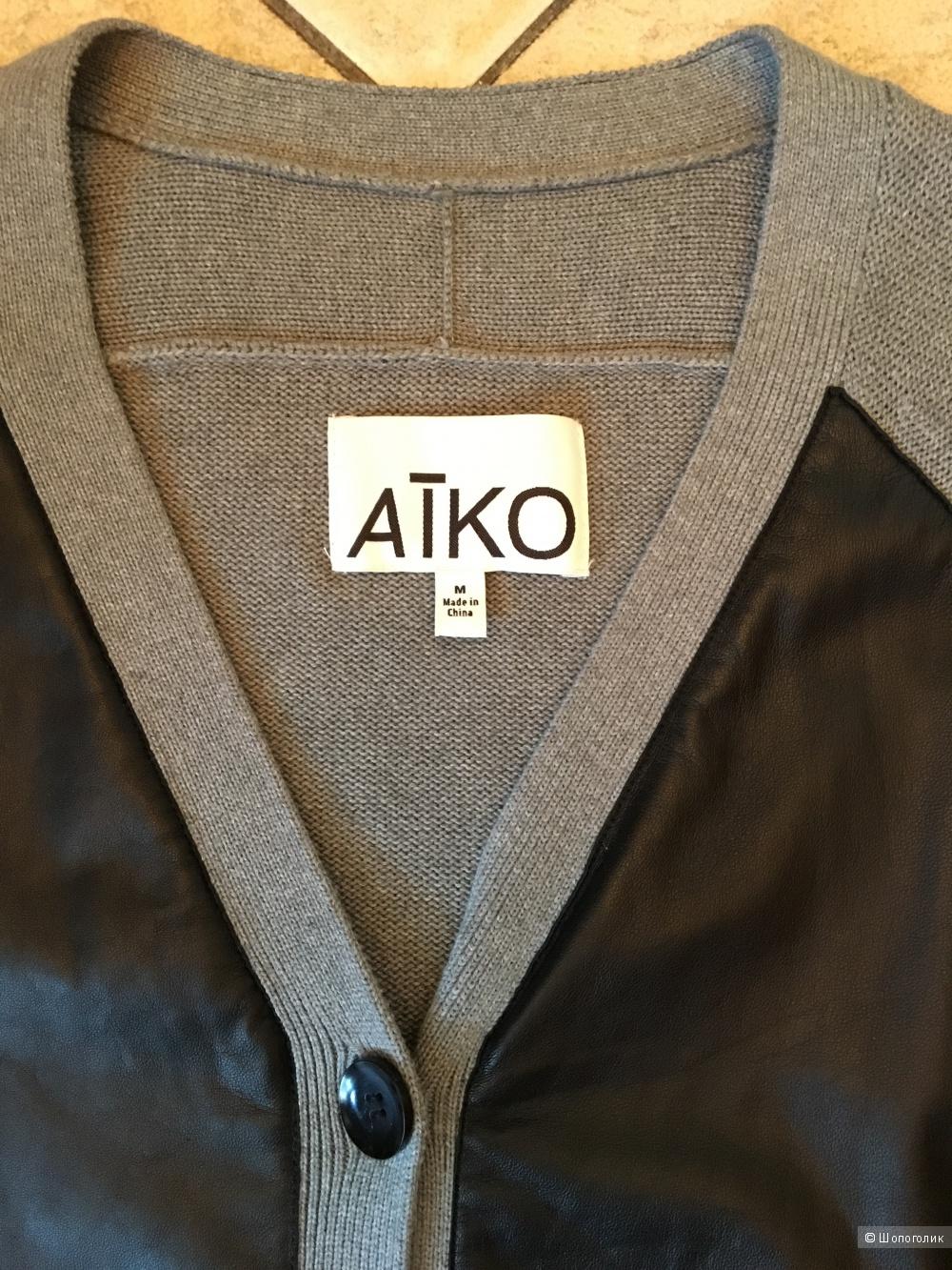 Кардиган с кожей AIKO, размер M