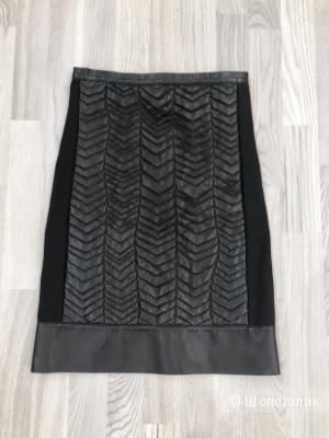 Кожаная юбка Patrizia Pepe, размер 42-44.