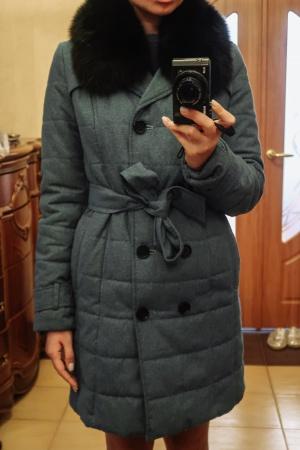 Пальто-пуховик HOOPS размер 42-44