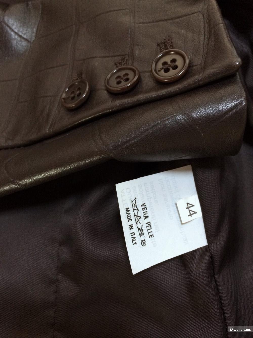 Кожаная куртка-пиджак B&W размер 44-46
