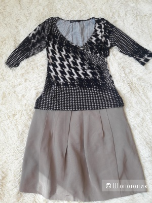 Комплект кофта Marc Cain, юбка Etam, размер 44-46