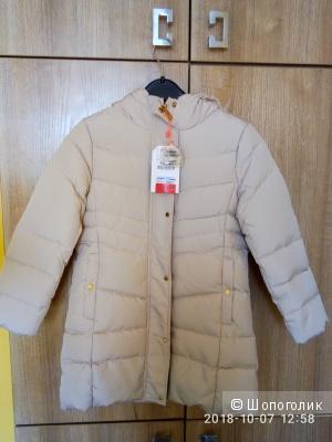 Пуховое пальто ZARA р. 122