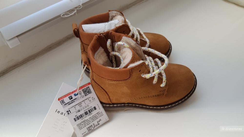 Ботинки зимние zara 21 размер