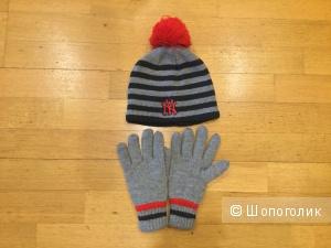 Комплект (шапка+перчатки) C&A, р. 54-56