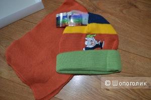 Шапка и шарф на 1-3 года Follow me