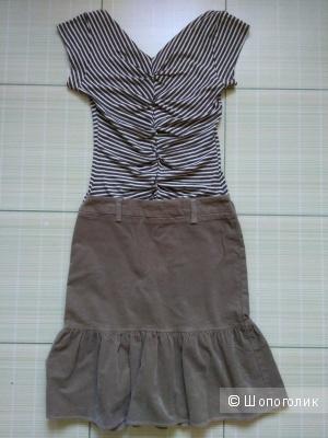 Сет из юбки united of benetton и блузки obsession размер s
