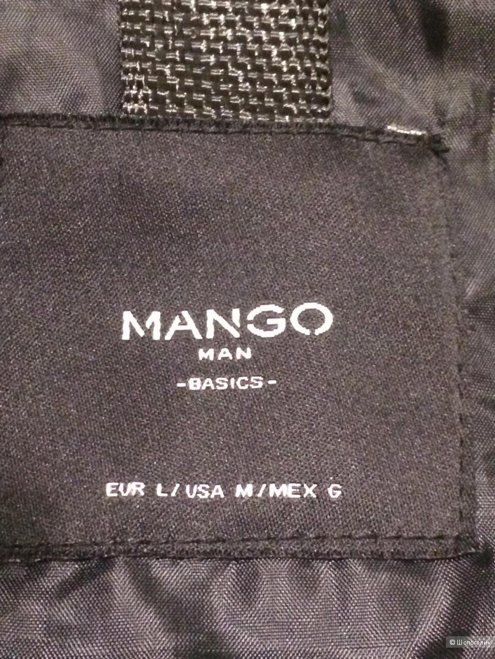 Куртка Mango кожаная,размер L.