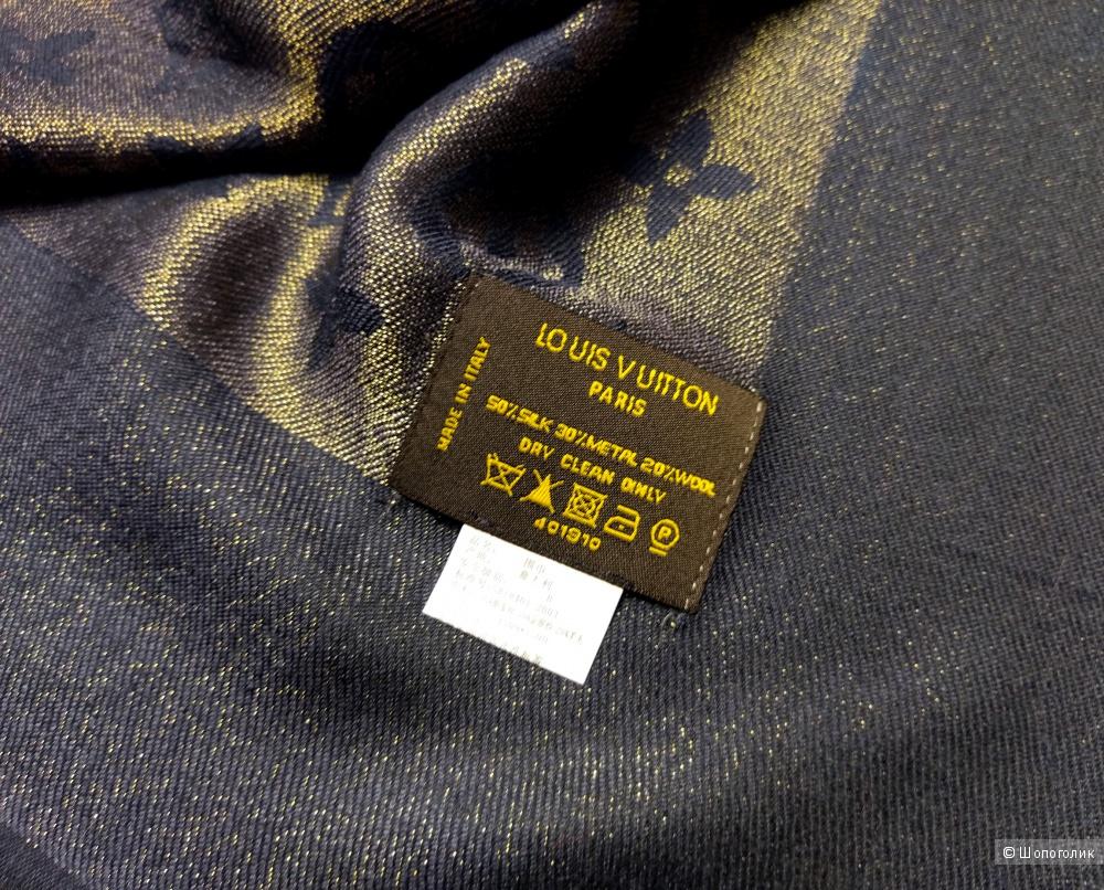 Шаль/платок Louis Vuitton, black, 140*140 см.