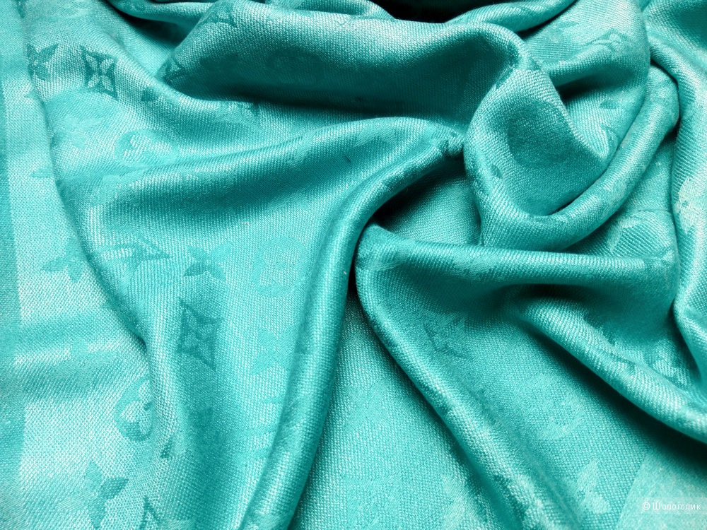 Шаль/платок Louis Vuitton, turquoise, 140*140 см.