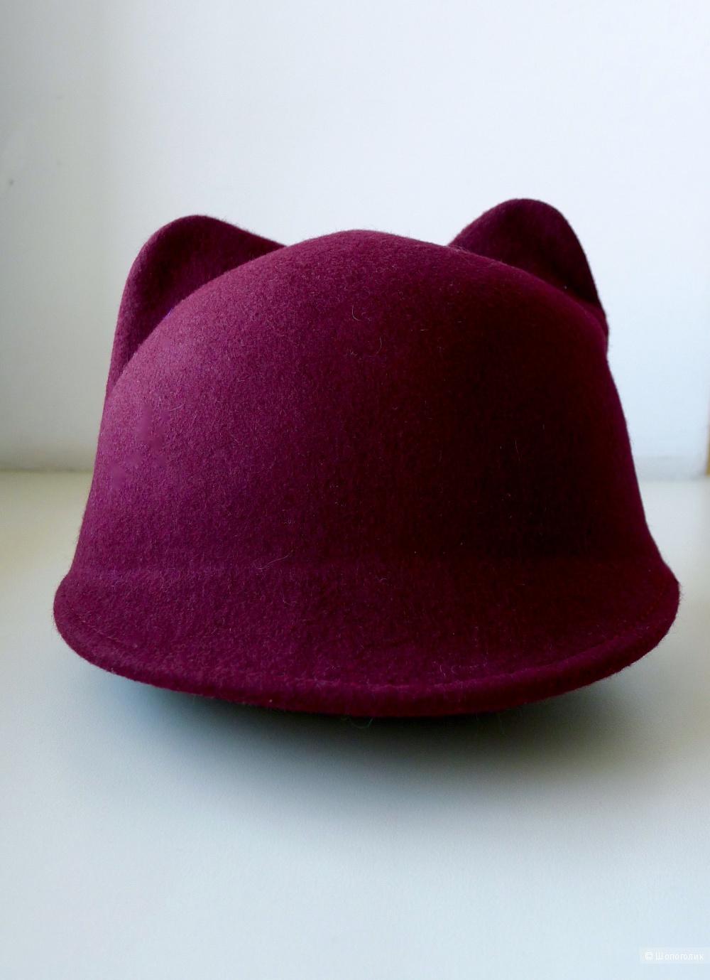 Шляпа с ушками кошки мерло