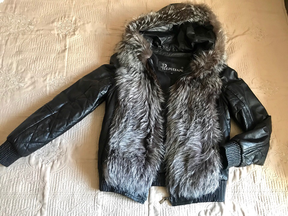 Меховая куртка-жилетка Puopuqiapu, размер 44
