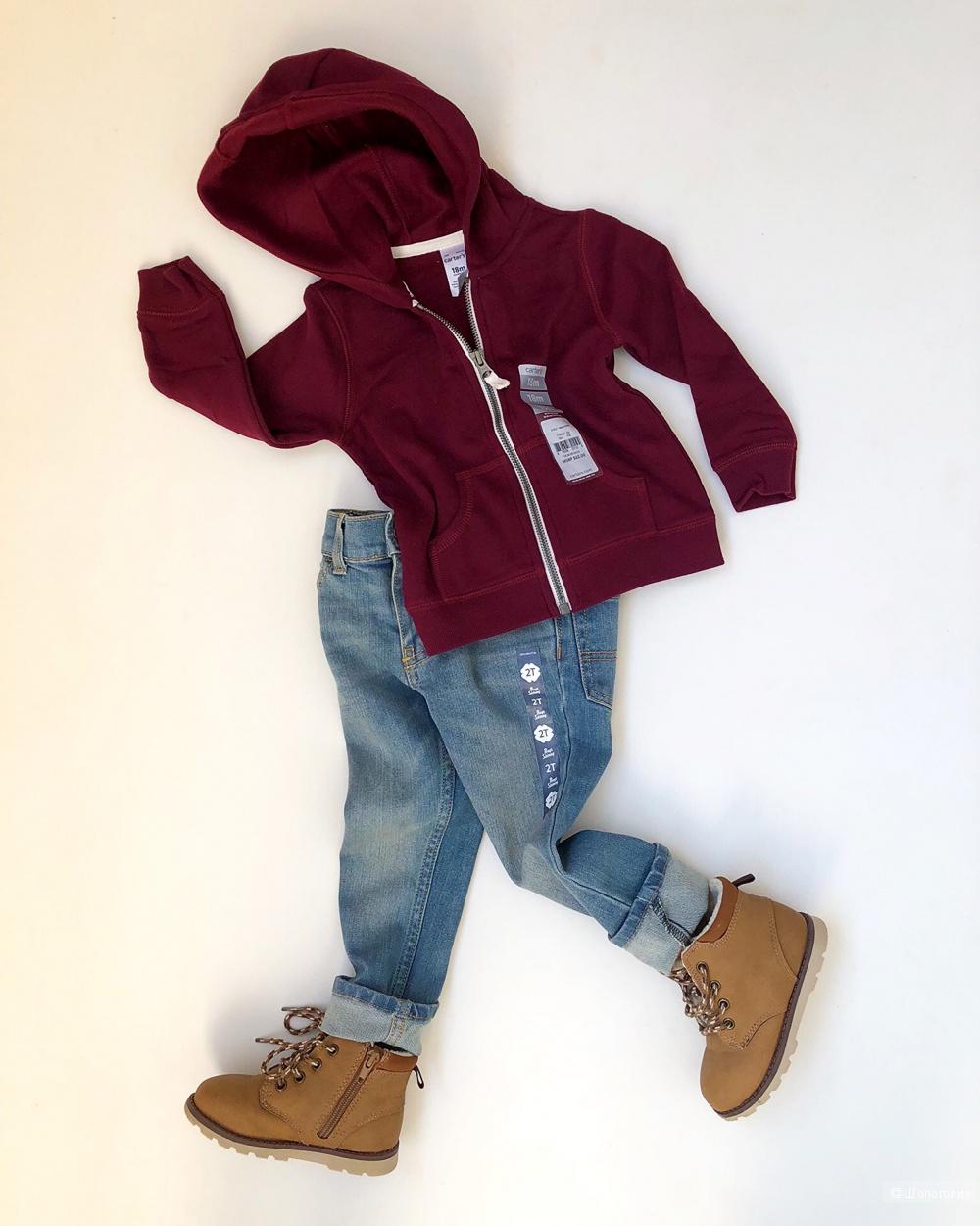 Толстовка Carters, джинсы Oshkosh 86-92 см