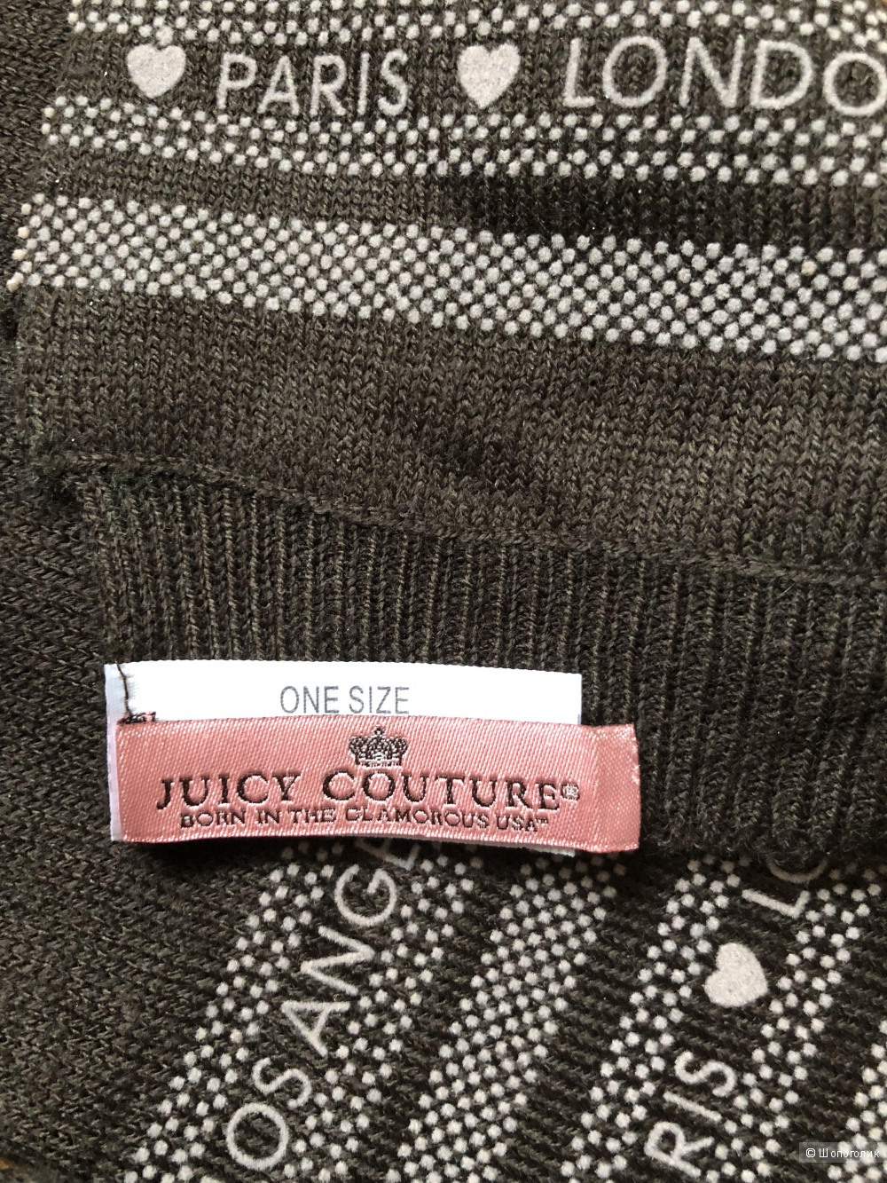 Шарф и шапка  Juicy Couture,  one size