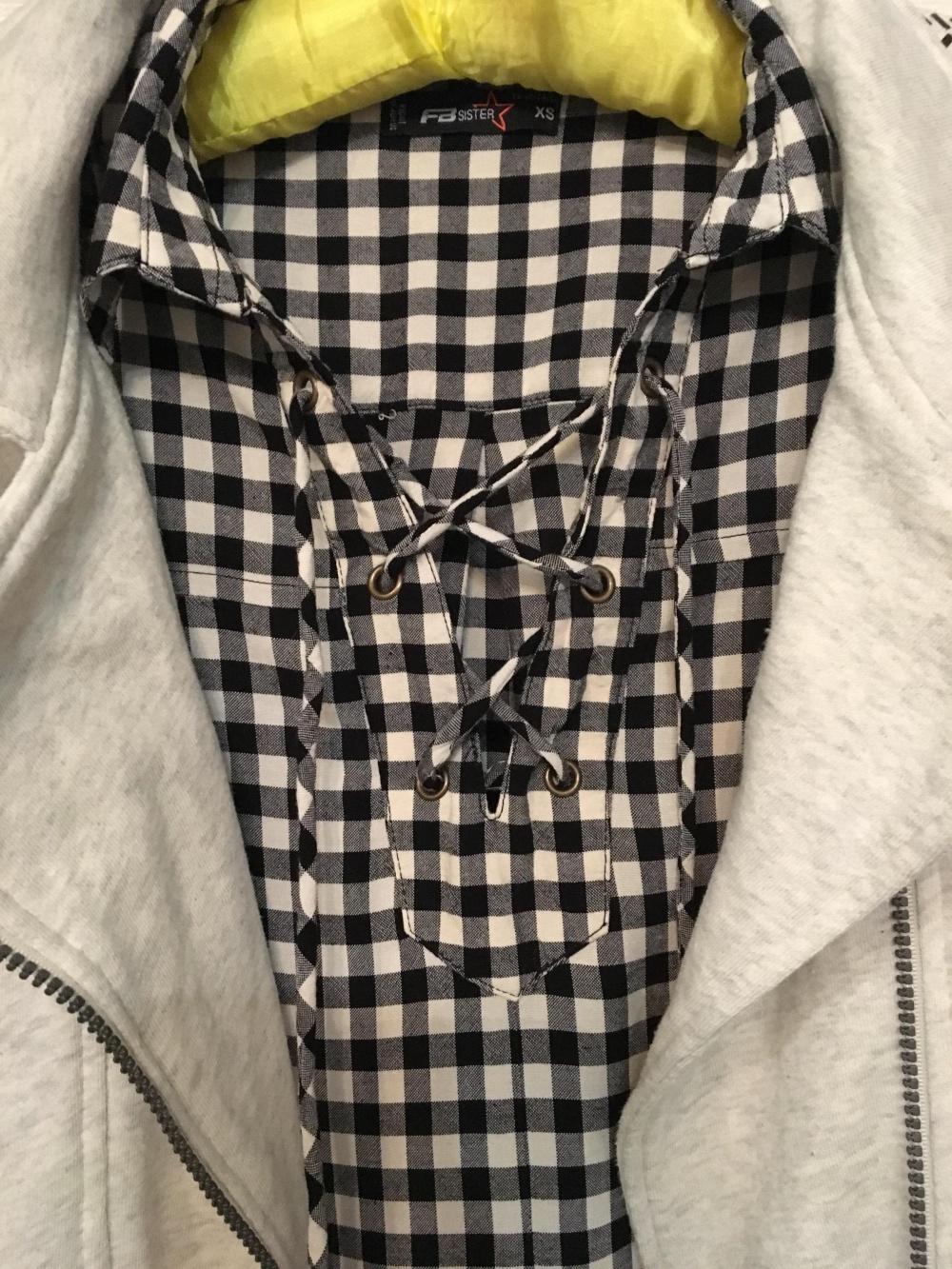 Комплект платье-рубашка FB Sister, размер XS/S+ Толстовка Garsia Jeans, размер S