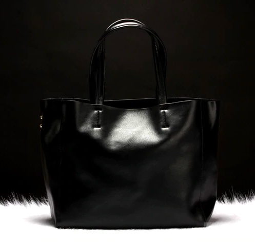 Кожаная сумка шоппер No name