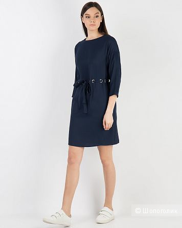 Платье-баллахон на люверсах, Zara basic, 46-50