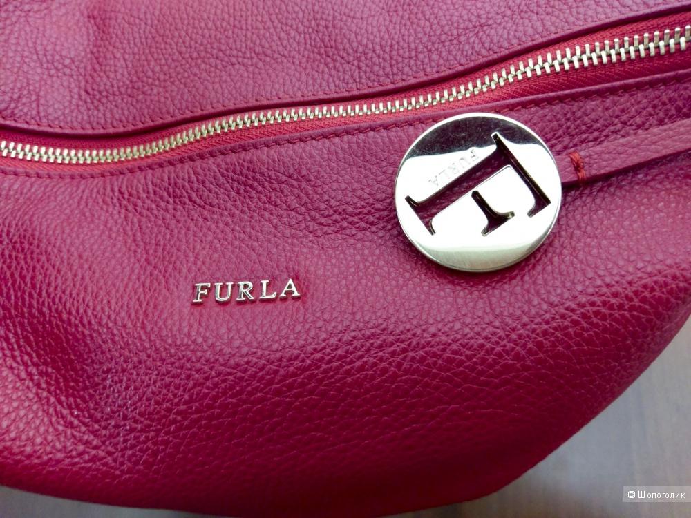 Сумка-хобо женская - Furla Alissa, medium.