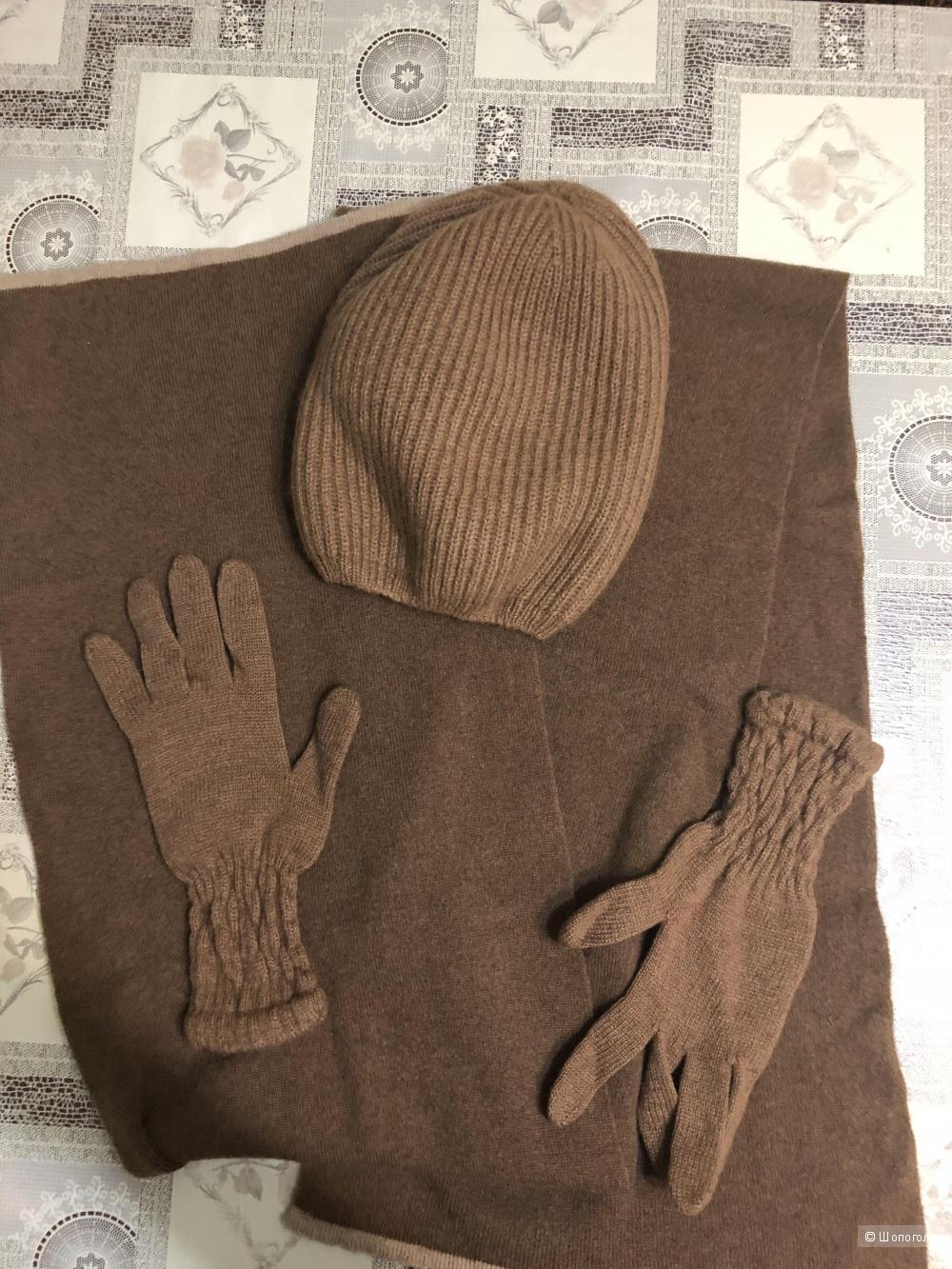 Сет шапка, шарф, перчатки