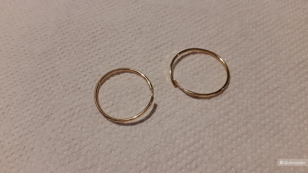 Золотые серьги 585 проба +подарок подвеска из серебра 925 проба с бриллиантом.