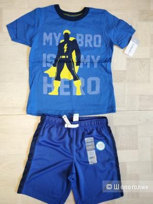 Набор Carters футболочка и шорты, размер 5T ( 105 - 112 см)
