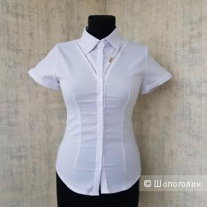 Белая блузка M&K размер 40 - 1