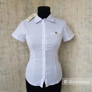 Белая блузка M&K размер 40 - 2
