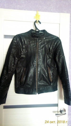 Кожаная куртка Zara, размер L(M)