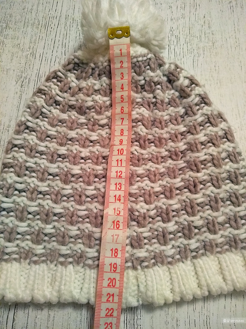 Комплект no name: шапка+шарф, объем головы 54-55-56