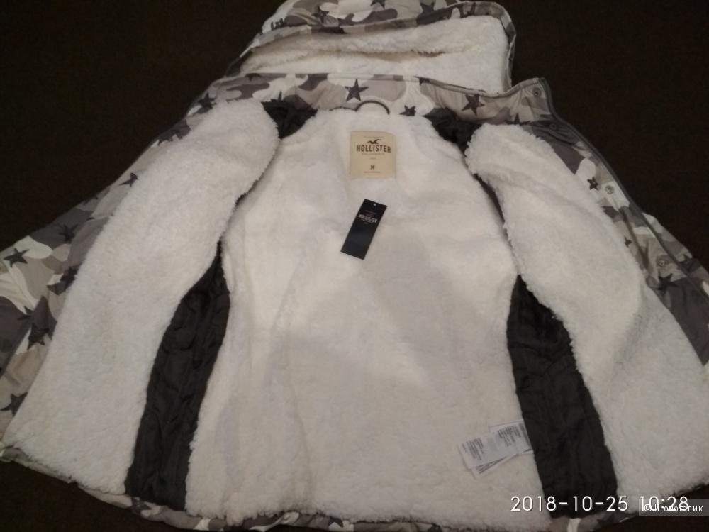 Дутая куртка hollister размер М