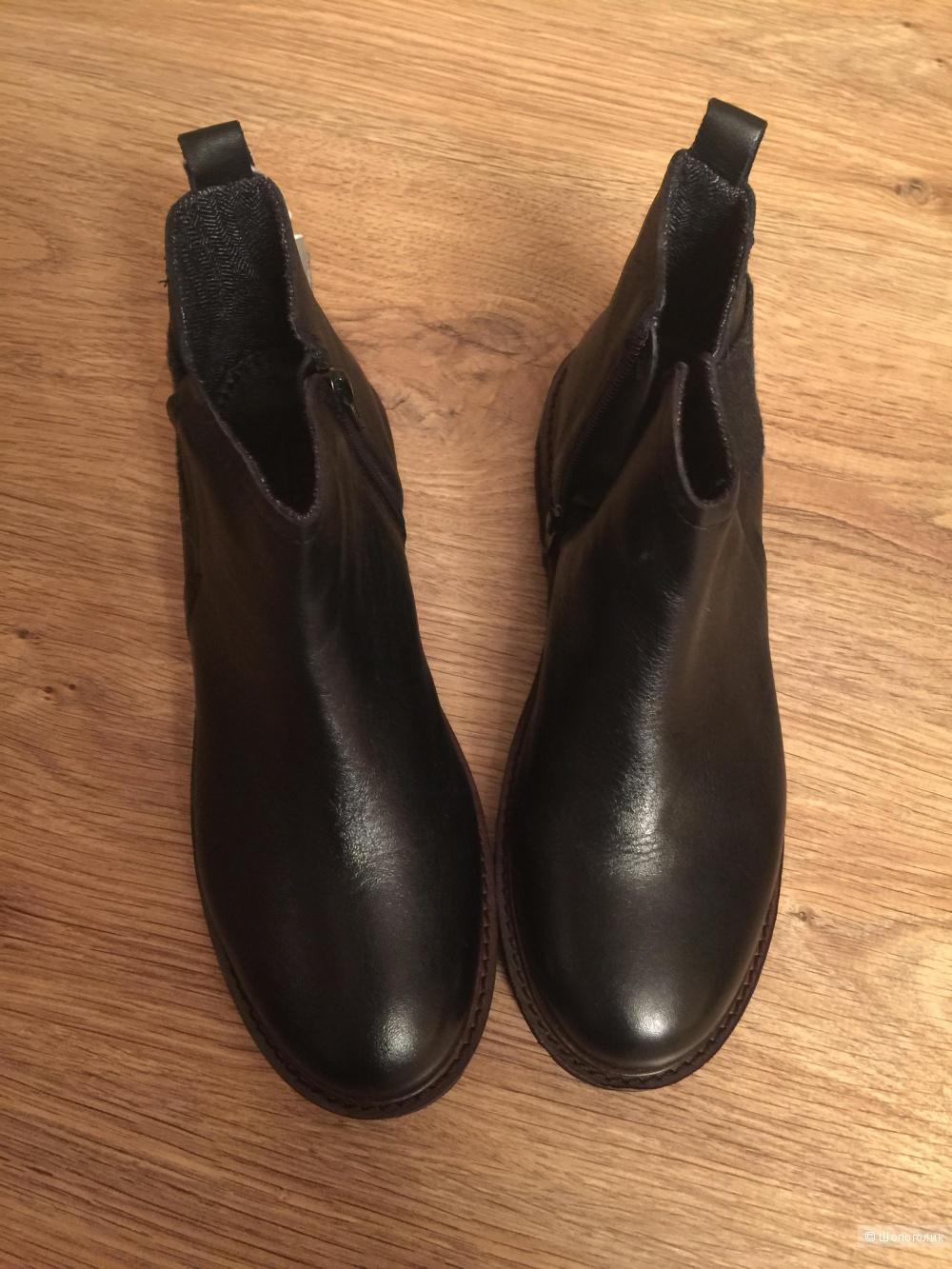 Кожаные ботинки ZARA, 38 размер