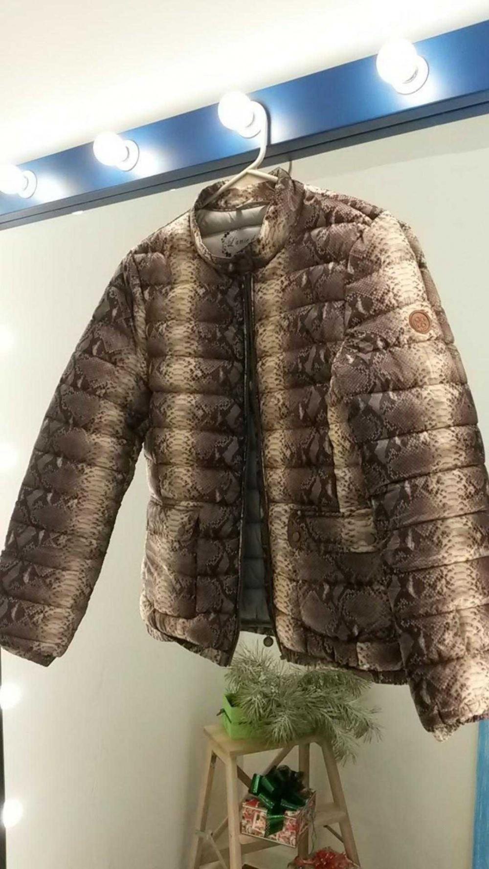 Куртка L'amie de Paris со змеиным принтом 46-48