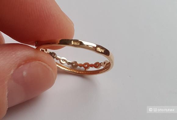 Золотое кольцо 585проба, разм. 16,5
