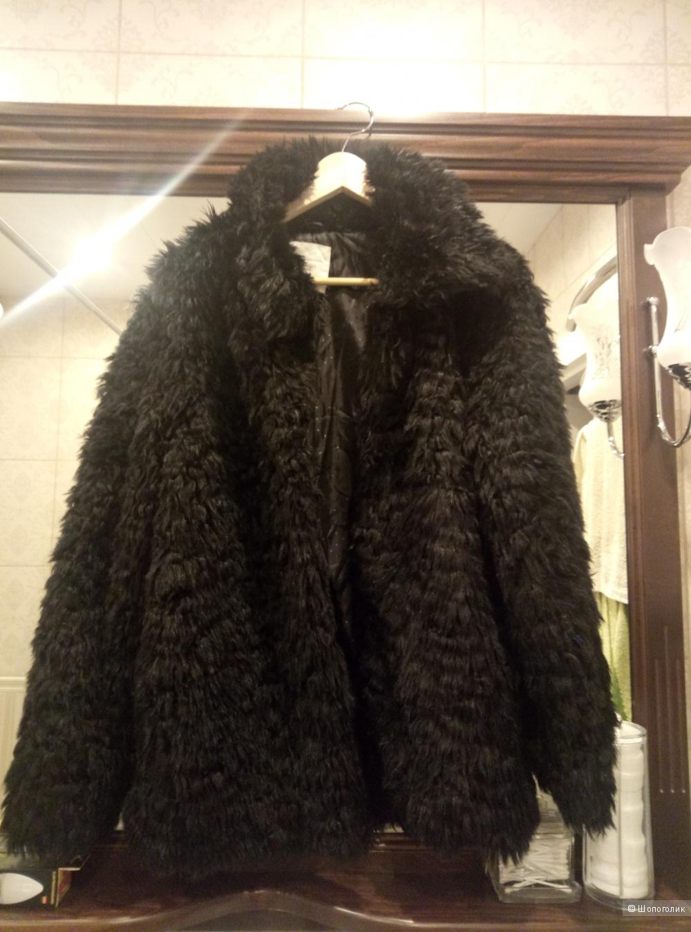 Меховая куртка Mango,  46-48 размер