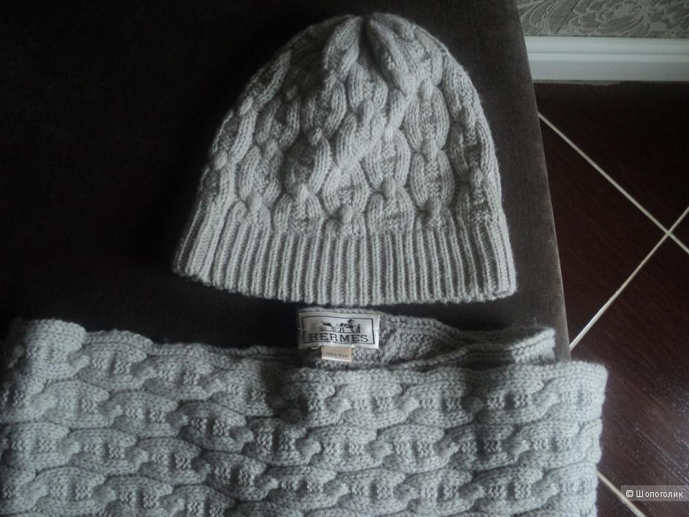 Комплект шапка, шарф HERMES