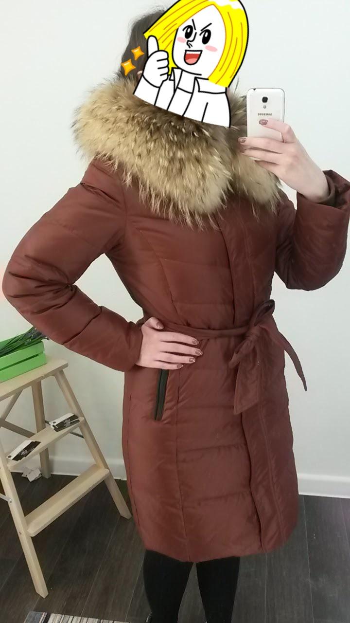 Пуховик/пальто ostrich 46-48
